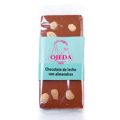 Chocolate artesano con leche y almendras