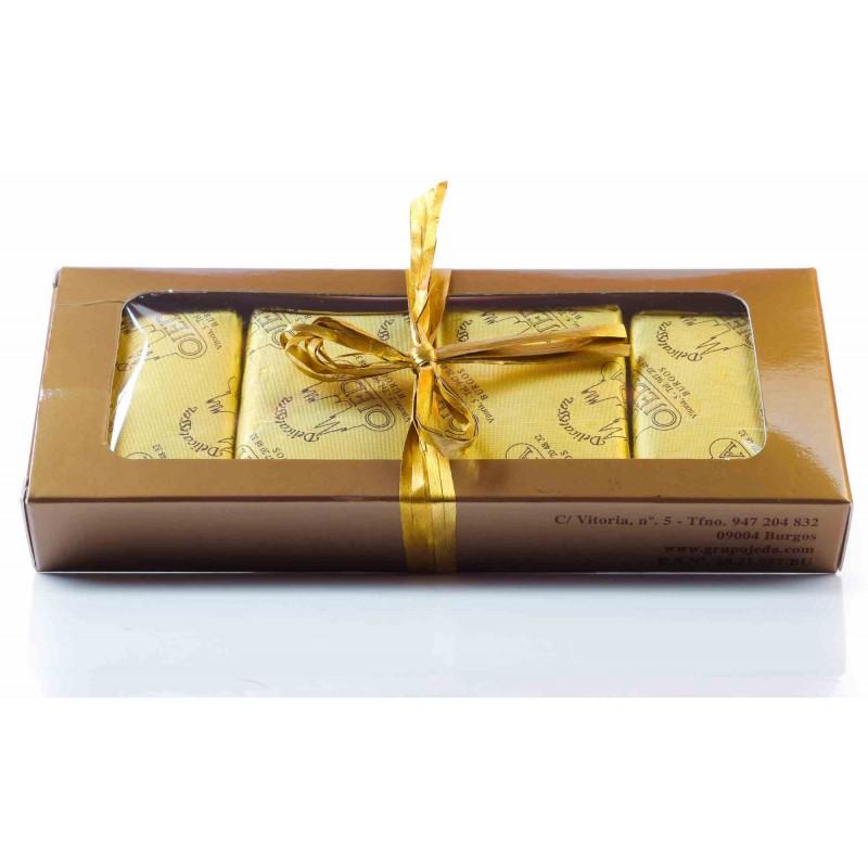 Chocolatinas de chocolate con leche artesano