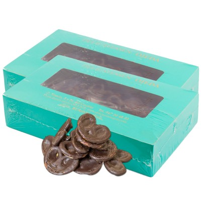 Pack de 2 cajas de palmeritas artesanas de chocolate. 300g x2 (600g)