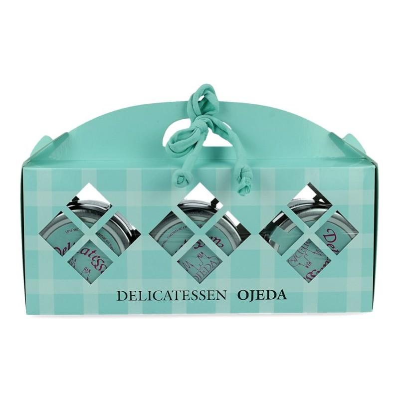 Lote de 3 tarros de vidrio de crema de queso - Delicatessen Ojeda