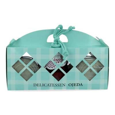 Lote de 2 latas de morcilla y 1 tarro de pimientos - Delicatessen Ojeda