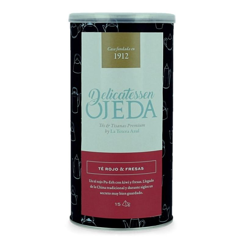 Lata de infusiones Delicatessen Ojeda - Té rojo y fresas