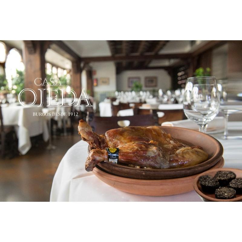 Pack: Cuarto de cordero lechal con morcilla de Burgos y vino de la tierra de Castilla y León