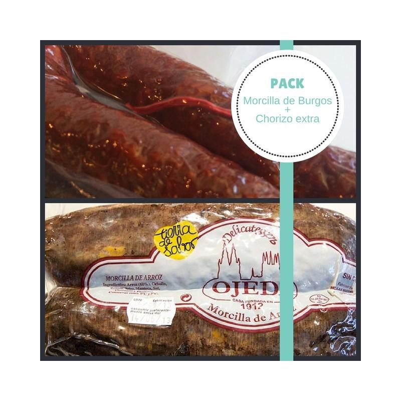 Pack Morcilla de Burgos y Chorizo extra